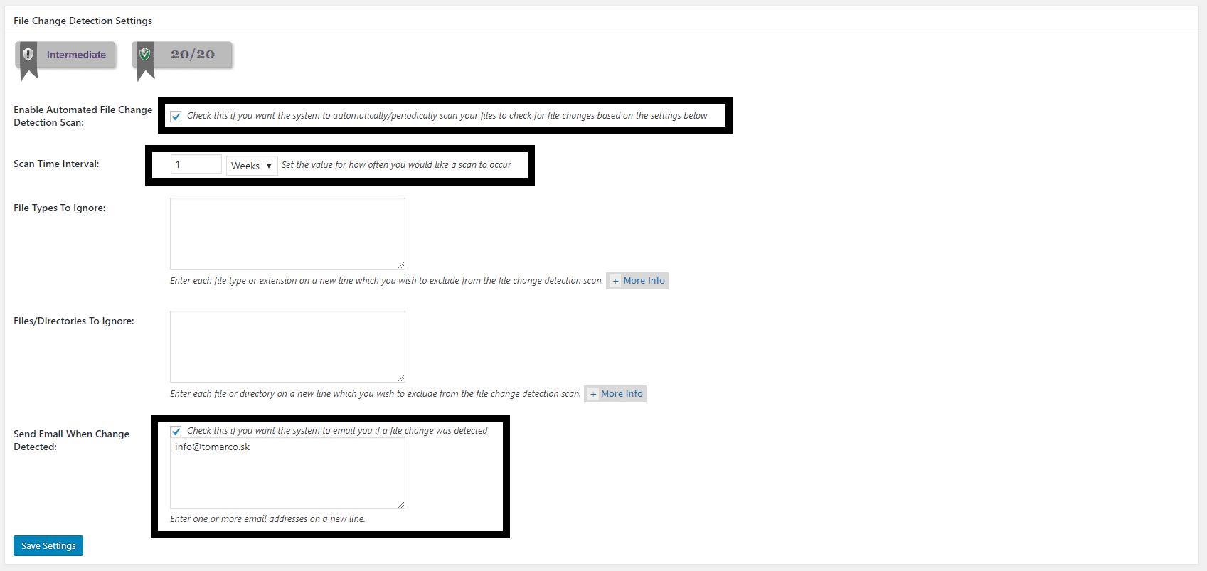 pravidelná kontrola web stránky