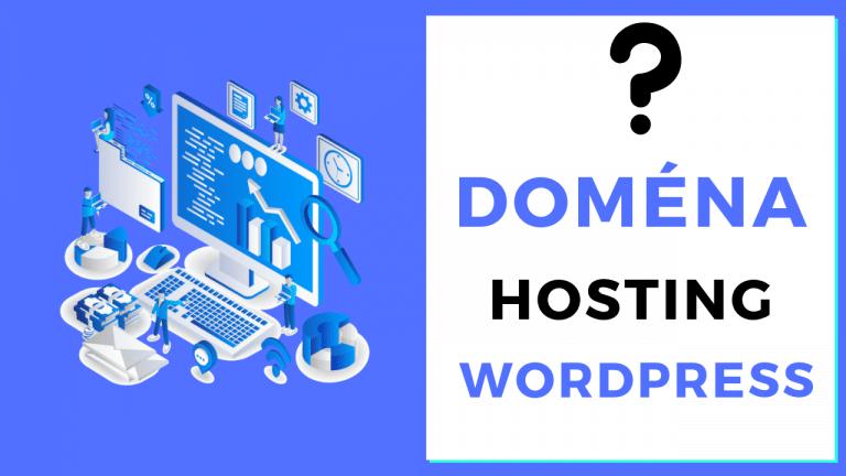 Registrácia domény, hostingu a inštalácia WordPress