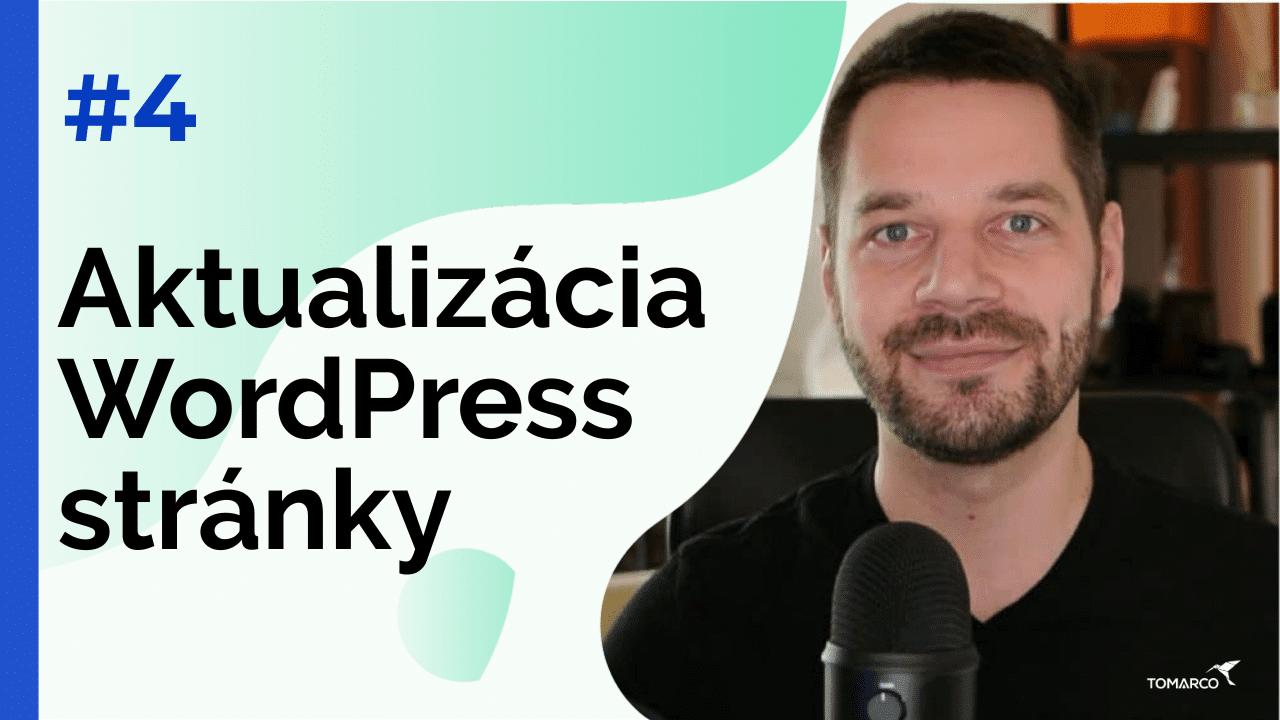 Aktualiácia WordPress stránky