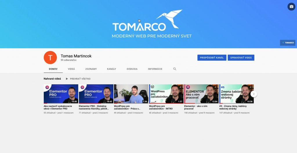 youtube kanal tomarco